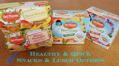 Quick & Healthy Snack & Lunch Options from Del Monte