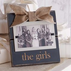 The Girls Frame - Photo for the girls/bridesmaid gift - Made of Wood - Decorative Frame