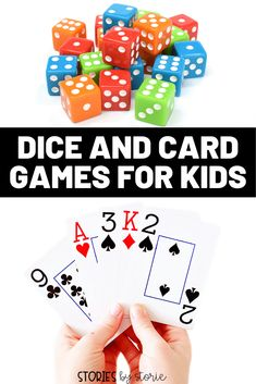 Are you looking for some dice and card games your kids will love? I'm sharing some of our family favorites. All of these games are fun for the whole family! Play Math Games, Games For Fun, Card Games For Kids, Dice Games, Game Change, Basic Math, Book Lovers Gifts, Deck Of Cards, Playing Games