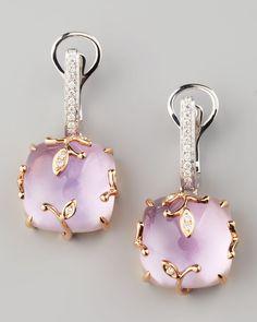 Frederic Sage Lavender Vine Amethyst Drop Earrings
