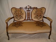 Sofas, Armchairs & Suites Edwardian Antique Rococo Solid Carved Walnut 3 Seater Salon Canape Sofa Settee Goods Of Every Description Are Available