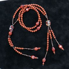 JUZU SGI  NECKLACE   Red Jasper and Picture by creationsbylr