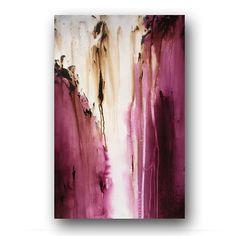 Pflaume lila Malerei auf Leinwand abstrakte Kunst große Original Gemälde zeitgenössischen Kunst 36 x 24 Heather Tag Originalgemälde