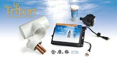 Triton Ionizer by Atlantic. $295.13. Treats ponds up to 25,000 gallon.. Easily installed in any new or existing water feature.. Safe for fish and plants.. Low maintenance.. Clears water without the use of harsh chemicals.. Helps keep ponds crystal clear by electronically introducing microscopic ions of copper, silver, and zinc into the water