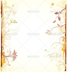 Floral Background  #GraphicRiver         Vector illustration of styled Floral Decorative background.   Zip file contains fully editable EPS8 vector file and high resolution RGB Jpeg image.     Created: 14February13 GraphicsFilesIncluded: JPGImage #VectorEPS Layered: No MinimumAdobeCSVersion: CS Tags: abstract #art #autumn #background #branch #curled #curve #decoration #design #elegance #element #floral #flower #frame #grunge #illustration #leaf #nature #old-fashioned #painting #pattern…