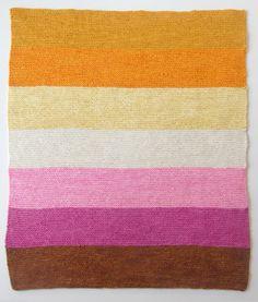 wool baby blanket detail