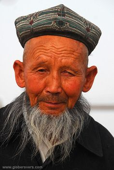 An Uyghur man at the Sunday bazaar of Kashgar, Xinjiang province in the far west of CHINA