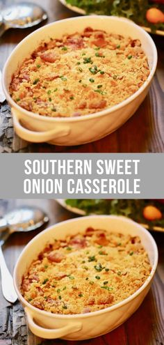 Southern Sweet Onion Casserole Recipe | gritsandpinecones.com