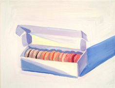 Macaron painting at https://www.etsy.com/listing/213381781/print-of-french-macaron-painting
