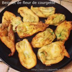 Beignet de fleur de courgette - La cuisine de Circée