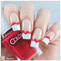 Cute #VdayNailArt #nailsoninstagram #frenchmanicure #frenchtips #heartnails #nailartdesigns #naildesigns #nails