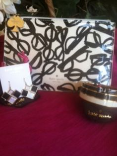AUTHENTIC (Never Used) Kate Spade Retro Specs Cosmetic Pouch - $32