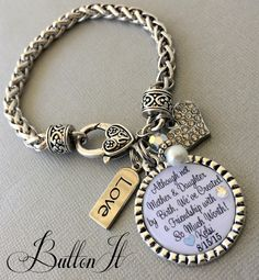Step Mother Of The BRIDE Gift Mom Wedding Keepsake CUSTOM Although Not And Daughter By Birth Bracelet