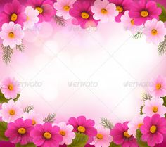 371e5a458f Holiday Frame with Colorful Flowers - Flowers   Plants Nature
