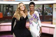 TODAY -- Pictured: (l-r) Mariah Carey and Tamron Hall appear on NBC News' 'Today' show (Photo by: Peter Kramer/NBC/NBC NewsWire via Getty Images)  via @AOL_Lifestyle Read more: https://www.aol.com/article/entertainment/2017/02/03/nbc-accused-of-whitewashing-amid-today-show-shakeup/21706480/?a_dgi=aolshare_pinterest#fullscreen