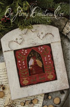One Starry Christmas Eve Cross Stitch Pattern by TheeCottageLane