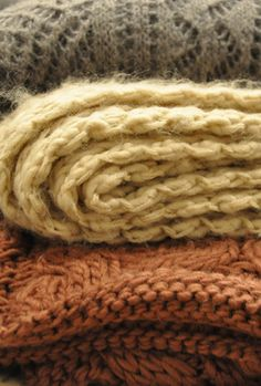 Soft Autumn cozy blankets - I want sweaters these colors