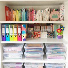 Happy Sunday! Hope youre having a good one and enjoying the snow if youve got it no snow here but its so cold! Were cosy inside sorting out loads of house stuff and putting our tree up heres a little craft room snap of work in progress sorting #happysunday #hellohoorayblog #rainbowshelfie #incolourfulcompany