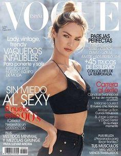 Candice Swanepoel fotografiada por Mariano Vivanco con estilismo de Belén Antolín en el número de abril de Vogue España.