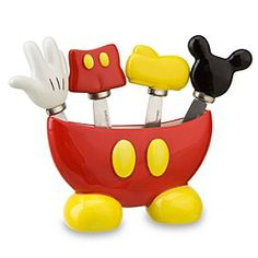 Mickey Mouse Body Parts Spreader Knife Set 5 PC Best Of Mickey