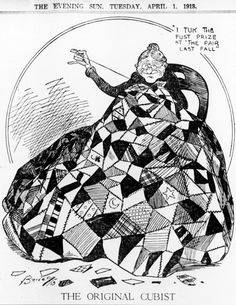 The Original Cubist, one of the illustrations in These Aren't Your Grandmother's Quilts by Barbara Brackman in Quilters Newsletter December/January 2016.