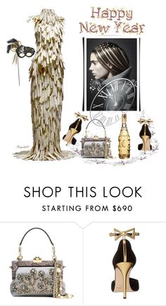 """""""Have a Wonderful New Year's Eve Everybody"""" by ragnh-mjos ❤ liked on Polyvore featuring Alexander McQueen, Dolce&Gabbana and Oscar de la Renta"""