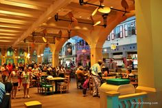 Centertown Food Court, Disney's Caribbean Beach Resort, Walt Disney World Disney Hotels, Disney World Resorts, Disney World Restaurants, Disney World Florida, Disney World Parks, Disney Vacations, Disney Trips, Walt Disney, Disney College