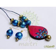 Buy Handmade Terracotta Jewelry - Small Set- Tsc24 online, Latest Handmade…