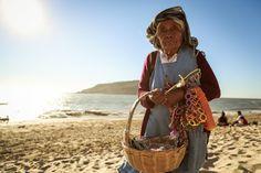 Beach seller, Mazatlan Mexico.