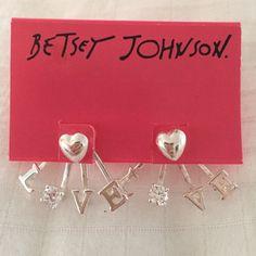 """""""Love"""" Earrings Brand new Betsey Johnson Jewelry Earrings"""