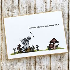 mama elephant dandelion wishes Mama Elephant Stamps, Hey Mama, Karten Diy, Elephant Birthday, Dandelion Wish, I Gen, Animal Cards, Lawn Fawn, Baby Cards
