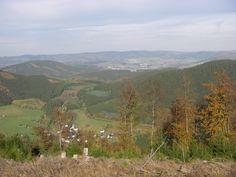 auf dem Rothaarsteig im Sauerland, Blick auf Milchenbach