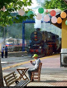 Enjoying a morning tea in the Pozanti station.: 56 548 TCDD Steam 2-10-0 at Between Kayseri and Adana, Turkey by Daniel SIMON