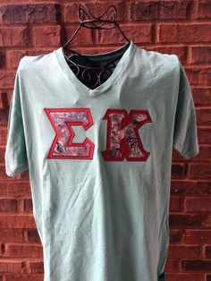 Sororith Letter Shirt - Comfort Colors  Sigma Kappa by AuntieJsDesigns on Etsy