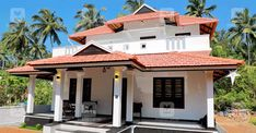 3 Bedroom Low Cost Home Design in 1073 Square Feet with Free Plan - Free Kerala Home Plans Kerala Traditional House, Traditional Style Homes, Traditional House Plans, Bungalow Style House, Free House Plans, Colonial House Plans, Kerala Houses, Decoration Bedroom, House Front Design