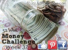 The Money Challenge Week 37 With Printable Chart – Save $1,378.00 | StuckAtHomeMom.com
