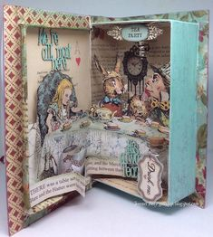 Enchanted Place : Alice In Wonderland Book Alice In Wonderland Crafts, Alice In Wonderland Decorations, Wonderland Party, Altered Books, Altered Art, Altered Tins, Lewis Carroll, Book Crafts, Paper Crafts