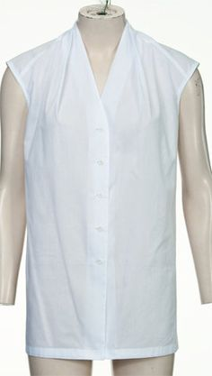 A Burda pattern for sleeveless top. Could be fashioned from a man's XXL shirt.