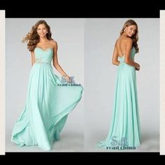 Light blue formal dress I bought this on here last year for my sorority formal but it was a little to small on me which stinks because it's gorgeous! It's sadly been sitting in my closet so I hope someone can use it! Dresses Prom