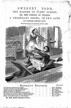 penny dreadful publication - Sweeny Todd
