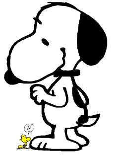 Snoopy and a tiny Woodstock