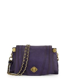 Leah+Flap+Leather+Crossbody+Bag,+Eggplant+by+Oryany+at+Neiman+Marcus.
