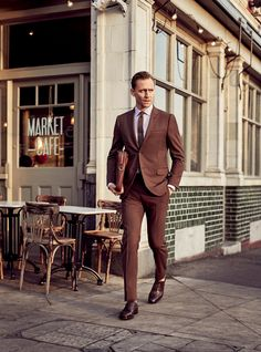 This is how you wear a brown suit. From GQ - The Men's Shoes You Need Right Now—and 30 Ways to Wear Them Photos