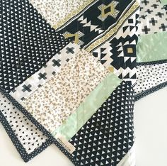 Modern Geometric Baby Quilt-Modern Quilt-Baby Quilt Blanket, Gender Neutral Baby Blanket, Baby Quilt for Sale by WildLittles on Etsy