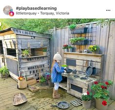 Outdoor mud kitchen and play house.- Chris Nail Art- # Art ร . - Outdoor mud kitchen and play house.- Chris Nail Art- # Art # K ร ผ che… # - Kids Outdoor Play, Outdoor Play Spaces, Kids Play Area, Backyard For Kids, Garden Kids, Childrens Play Area Garden, Outdoor Play Kitchen, Backyard Kitchen, Garden Ideas Children