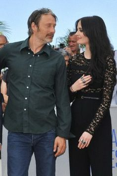 Mads Mikkelsen and Eva Green at 'The Salvation' photocall during the 67th Cannes Film Festival at 'The Salvation' photocall during the 67th Cannes Film Festival