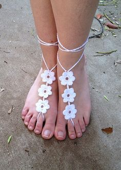 Barefoot+Sandals+Crochet+Pattern+Free | barefoot sandal patterns