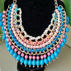 collar rebajado!.. $190  ↪ única pieza en este color.. (Disponible en otros colores).  manda mensajito y pide informes