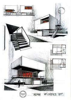 Remake of a house by the romanian architect Horia Creanga house by Horia Creanga 2 Architecture Board, Concept Architecture, Architecture Drawings, School Architecture, Interior Architecture, Architecture Graphics, Portfolio D'architecture, Portfolio Examples, Portfolio Website