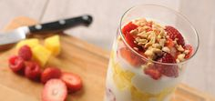Cool & Refreshing Peanut Parfait | Only 214 Calories | Easy & Satisfying Breakfast or Snack | using @The National Peanut Board | #client |For MORE RECIPES please SIGN UP for our FREE NEWSLETTER www.NutritionTwins.com
